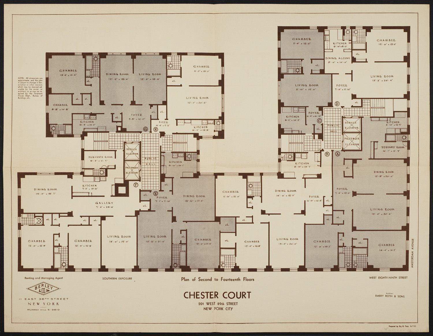 New york city apartment building floor plans for Floor framing plan